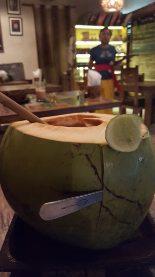 I guess they put the lime in the coconut here!