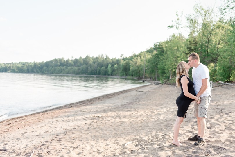 Sweet kiss on the shores of Lake Champlain