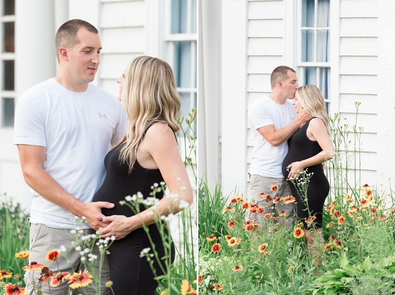 Summer Maternity Session in front of Historic Building