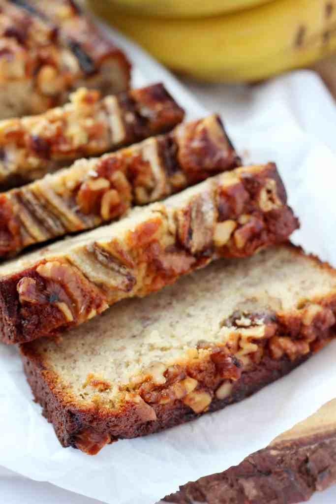 banana bread sliced