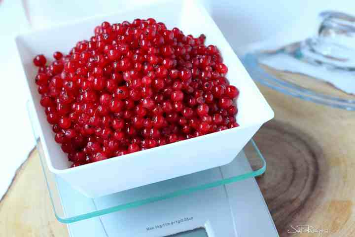 homemade red currant jam