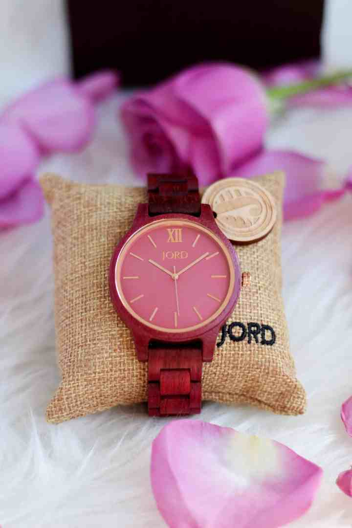 JORD wood watch Frankie Purpleheart & Plum collection