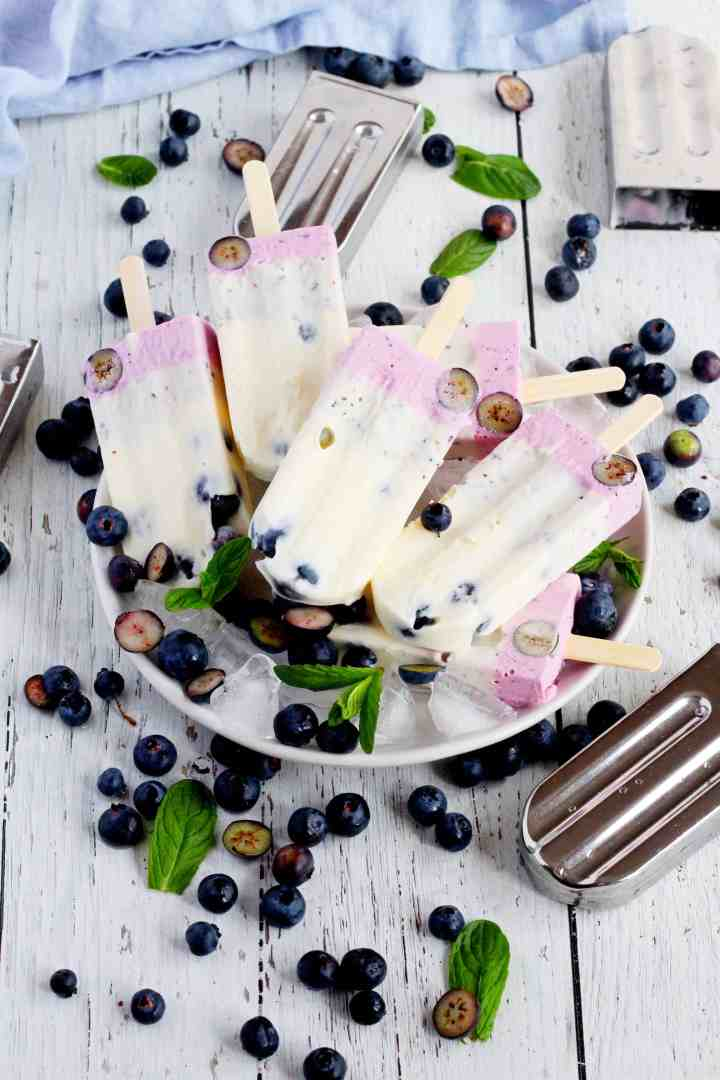 Blueberry cheesecake popsicles