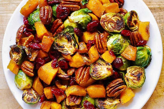 Roasted Butternut Squash And Brussels Sprouts