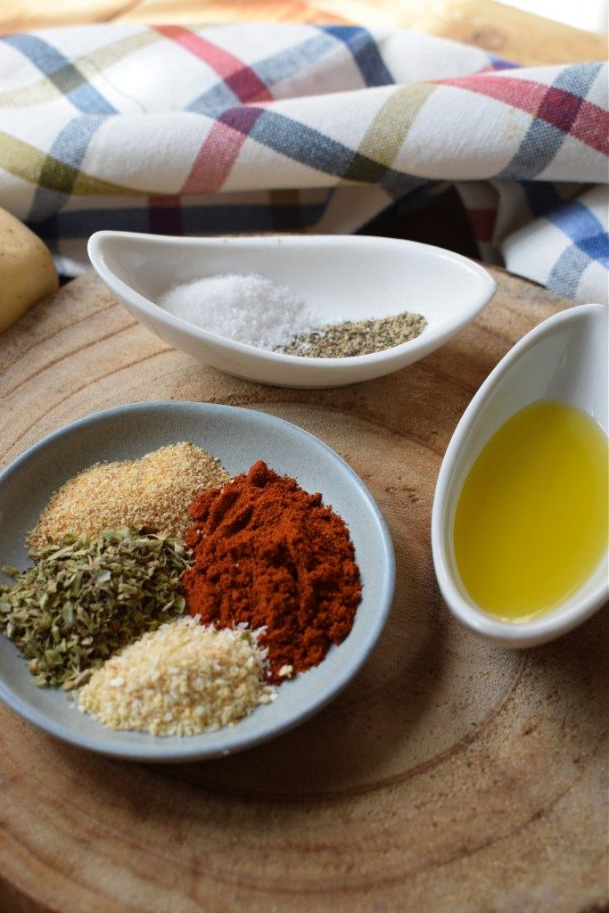 spices to make the spiced potaot wedtges