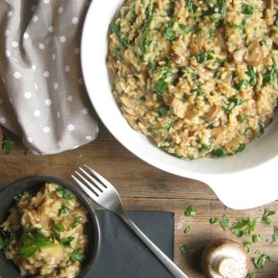 Portobello Mushroom & Spinach Risotto
