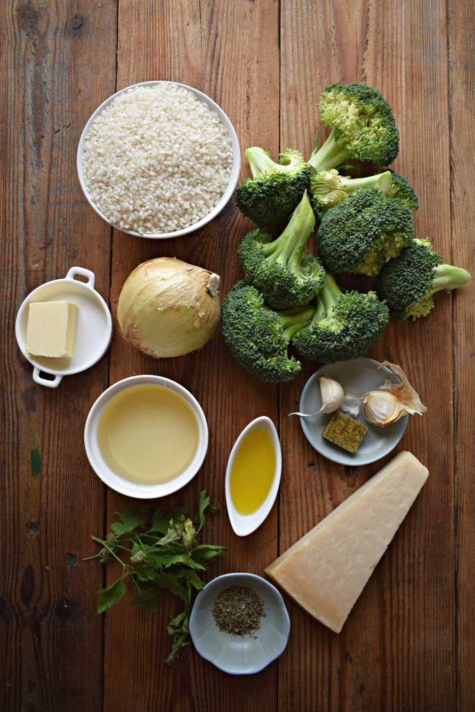 Ingredients for the Creamy Broccoli Risotto