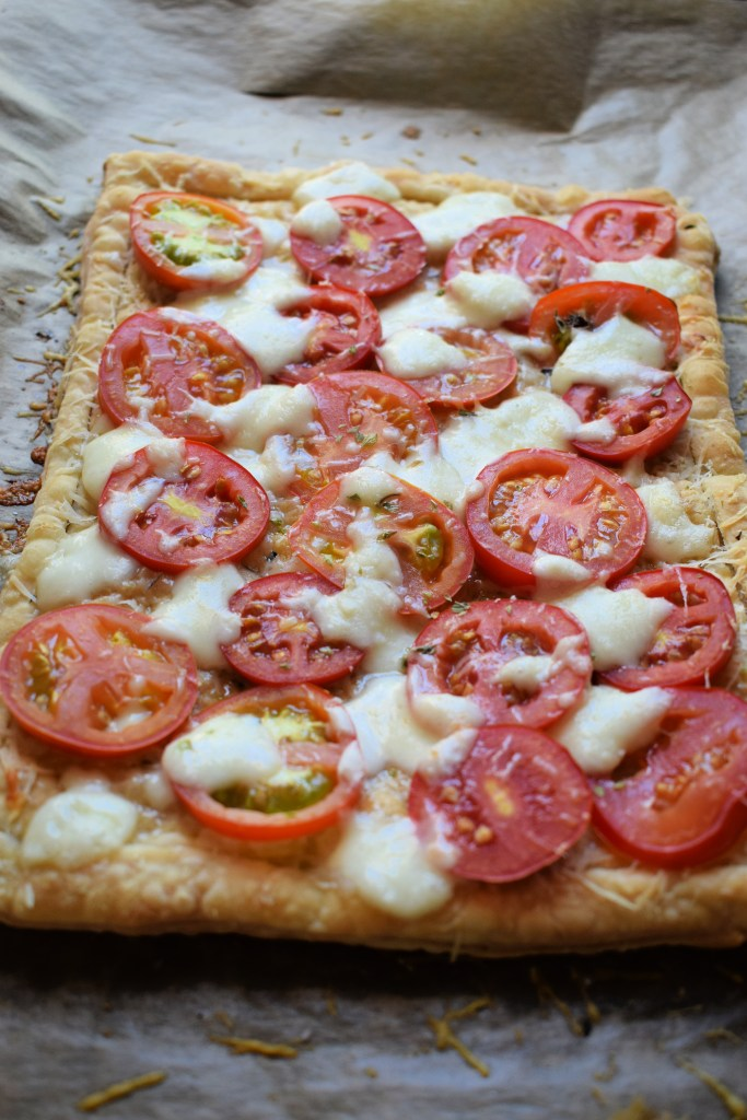 fresh out of the oven summer tomato tart
