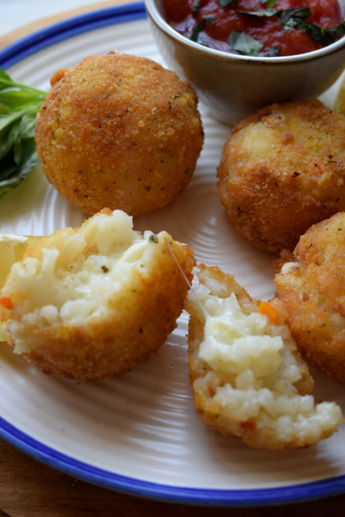 Arancini on a plate with
