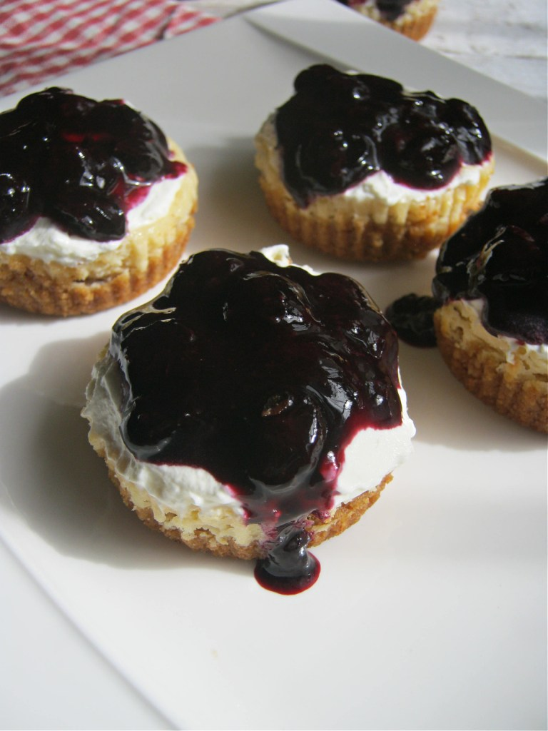 Cheesecakes on a white plate