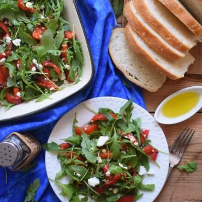 Roasted Red Pepper & Feta Salad