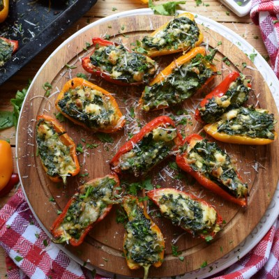 Feta & Spinach Stuffed Mini Peppers