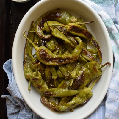 Oven Roasted Italian Green Peppers