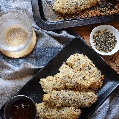 Everything Bagel Baked Chicken Tenders