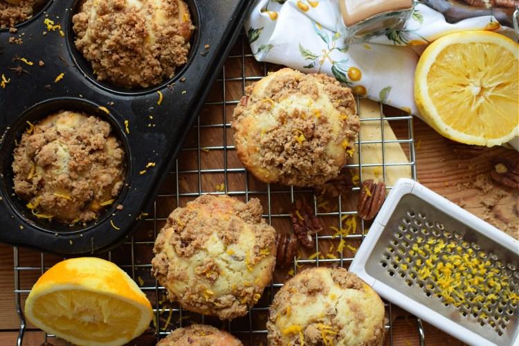 Pecan Orange Strusel Muffins
