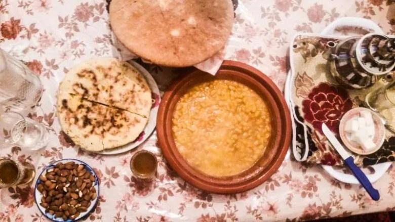 Marrakesh bazaar food