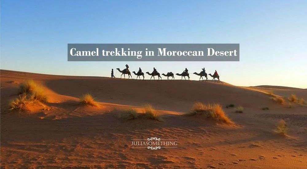 Camel trekking in Moroccan Desert res