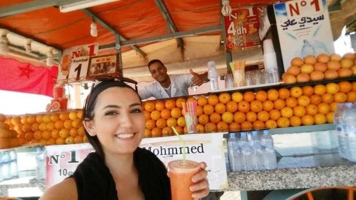 Morocco orange juice