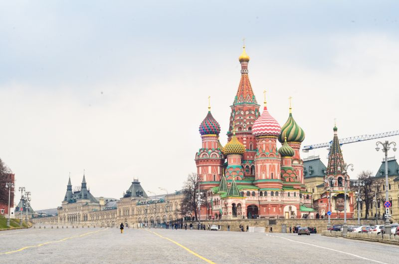 Saint Basil's Cathedral. Travelling to Russia