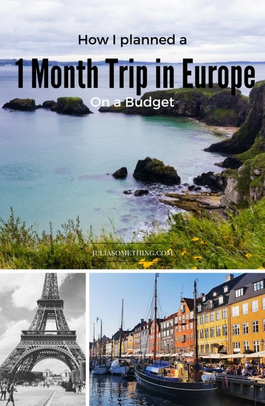 How I planned a 1 month trip in Europe