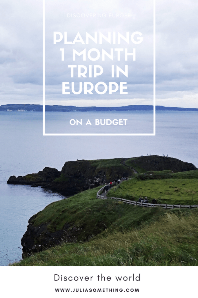 How to plan a 1 month trip in Europe (on a budget!) - transport, accommodation, and everything in between. #Europe #EuroTrip #Travel #BudgetTravel