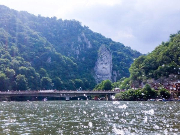 Decebal's rock sculpture in Romania