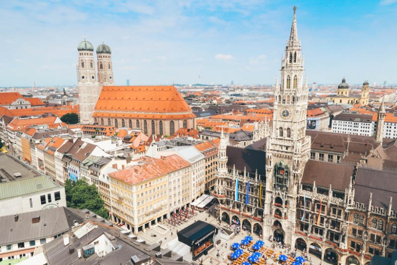 Church of St. Peter (Alter Peter) view from the top munich germany