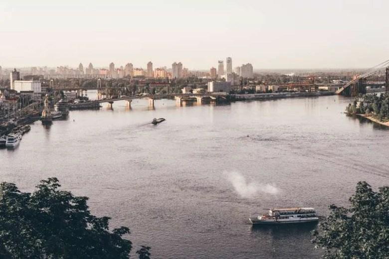 visit kiev ukraine panoramic nipru river