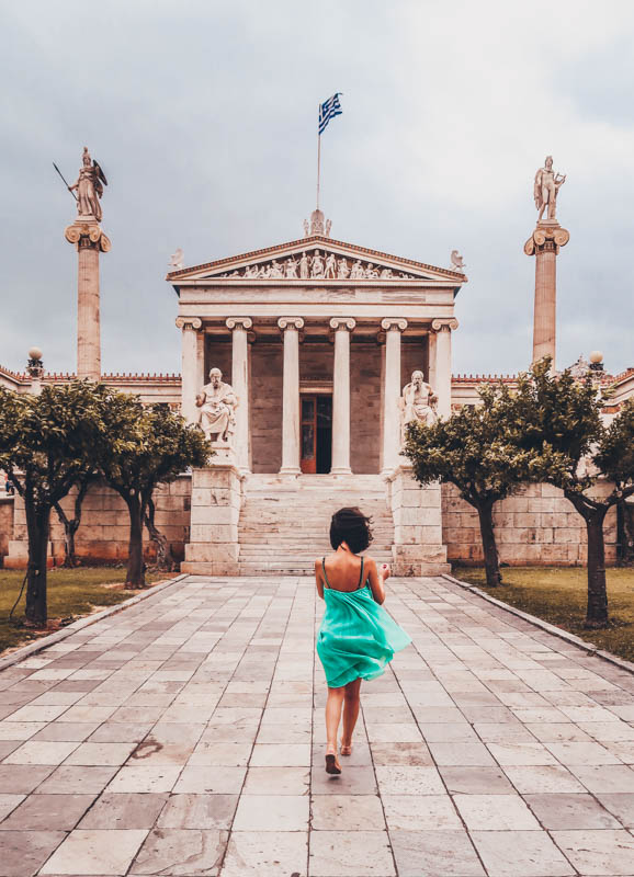 visit he Academy, the Universityand theNation Library athens how I spent 7 days in Athens, Greece