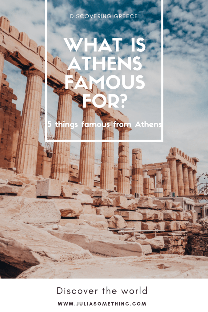 What is Athens famous for? Discover 5 things famous from Athens, Greece. #Athens #Greece #Europe #Travel #Democracy #Marathon #restaurant