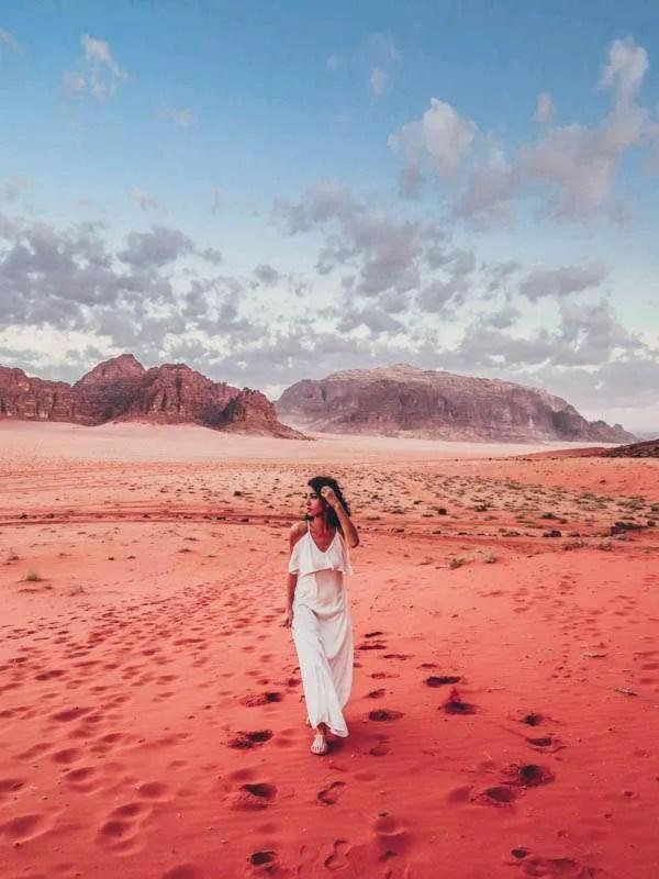 Spending a night in the Wadi Rum desert in Jordan