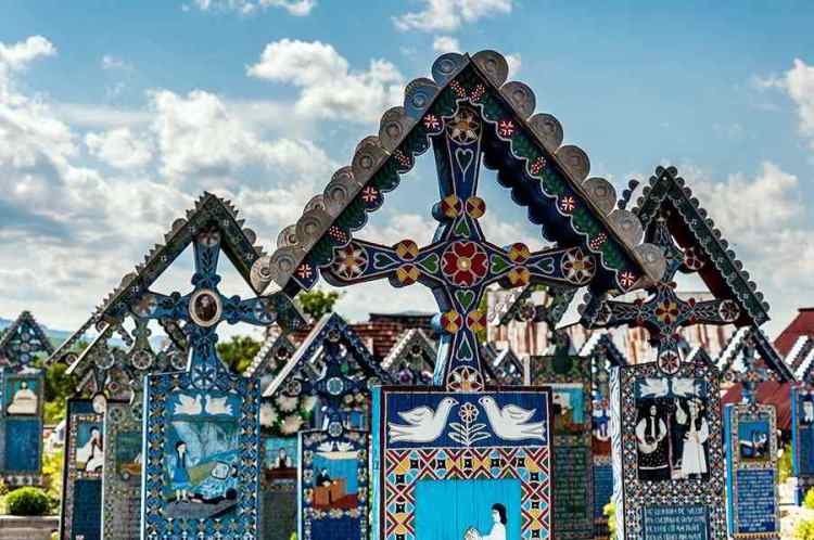 Merry Cemetery Cimitirul Vesel Sapanta Travel in Romania: 51 Most Beautiful Places in Romania to Plan Your Trip Around