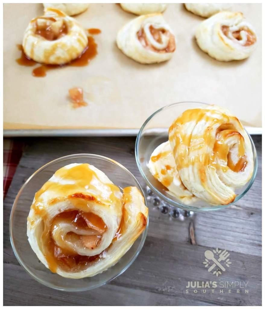 Amazing apple puff pastry dessert recipe