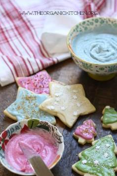 66 Sugar Cookies with Natural Colored Icing