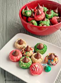 72 festive-candy-kiss-cookies