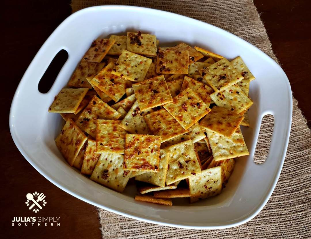 The best party crackers in a white platter - Spicy Fire Crackers
