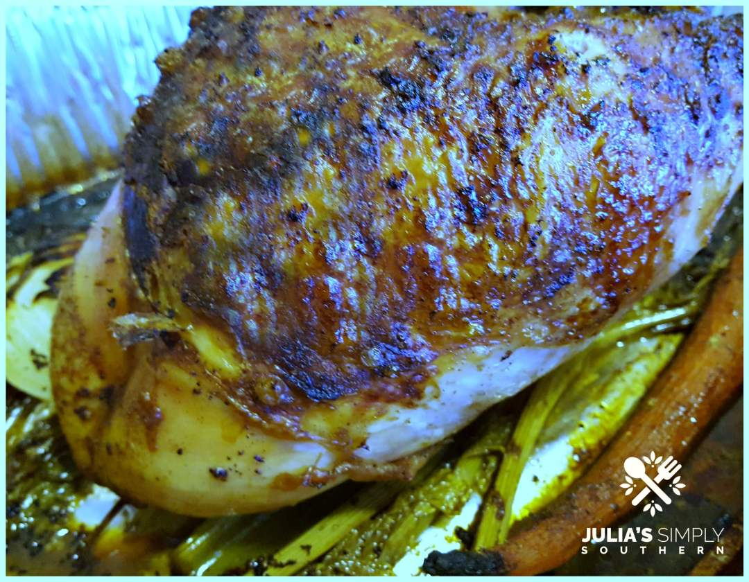 Grilled turkey breast for Thanksgiving dinner