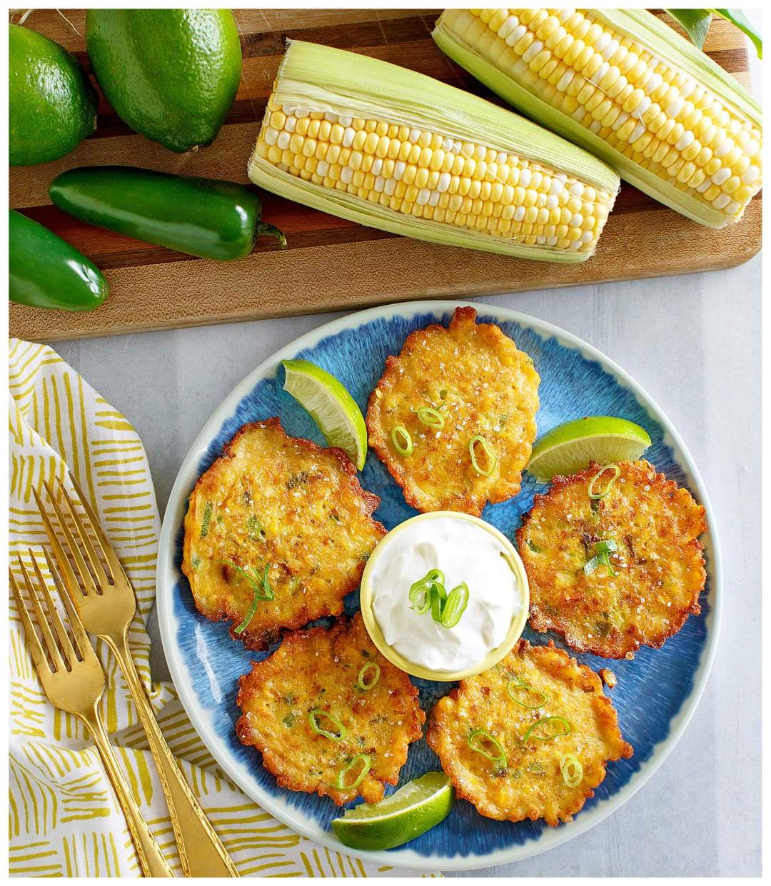 How to make cheesy corn nugget fritters