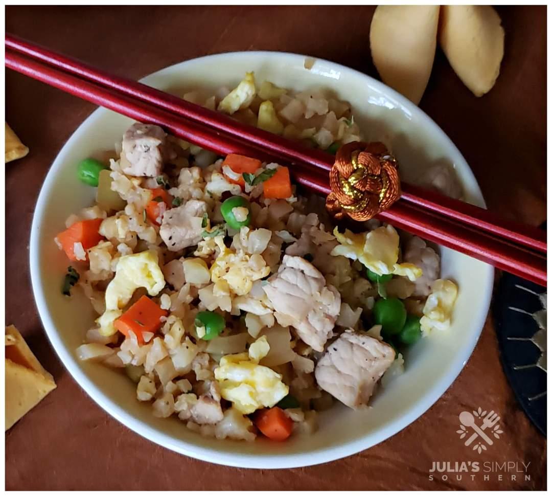 Recipe for keto friendly fried rice