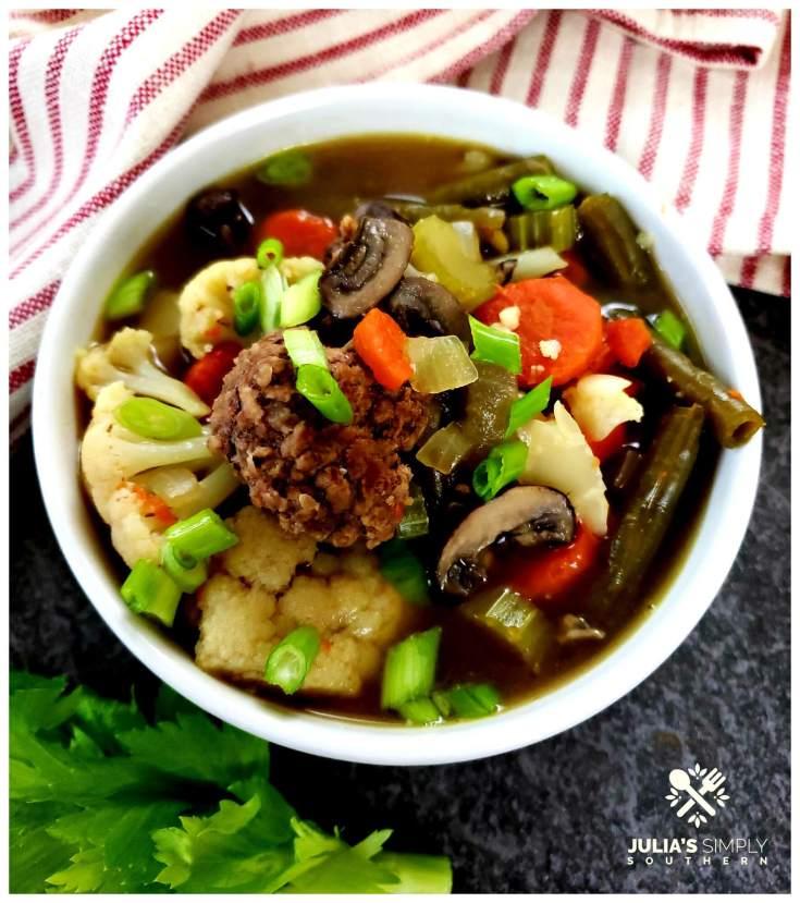 Low Carb Hamburger Vegetable Soup