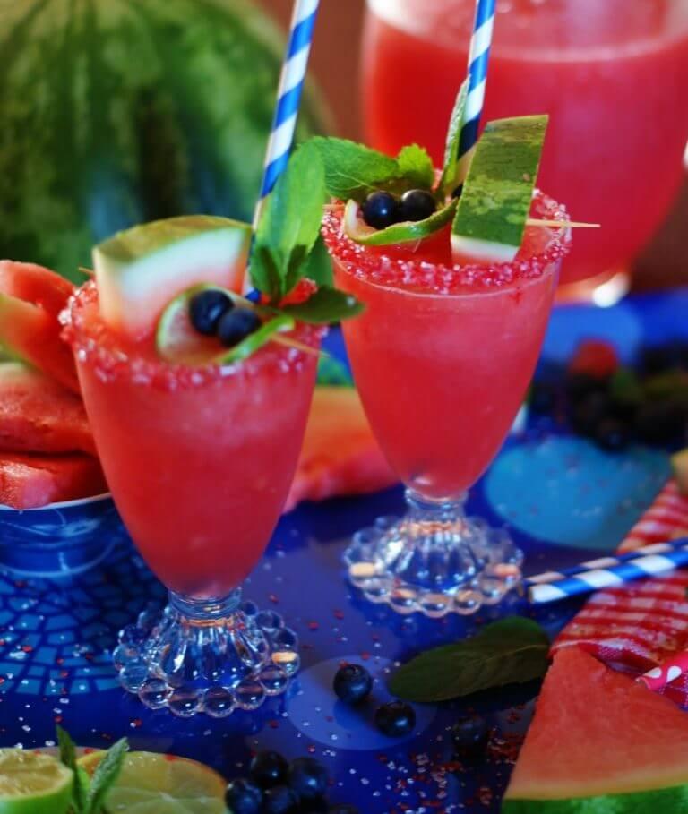 Watermelon Sparklers drink