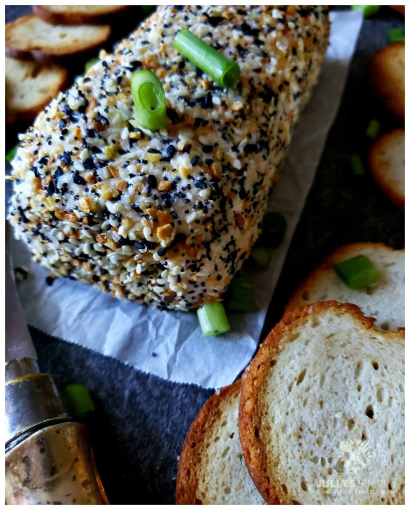 Best cheese ball recipe - Everything bagel seasoning