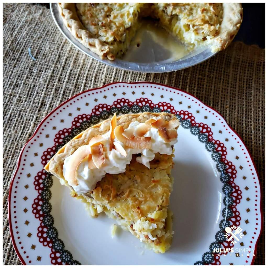 Amazing Coconut Pecan Chess Pie recipe - this easy dessert is a delicious classic