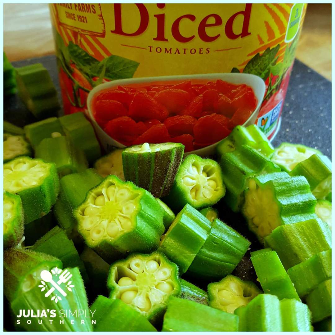 Okra and Canned Tomatoes