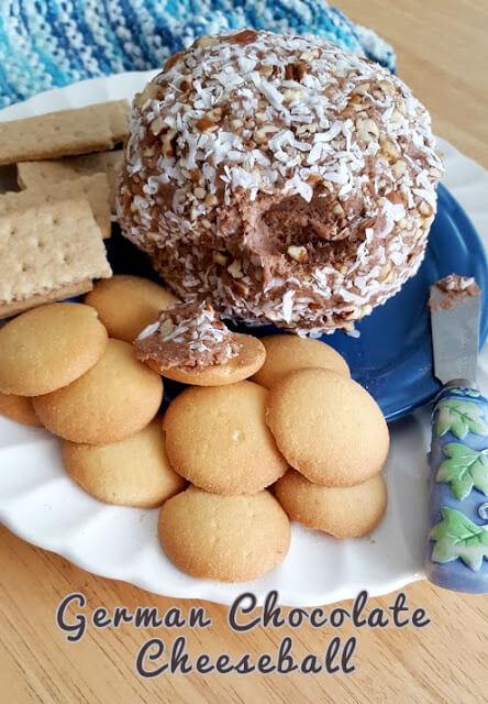German Chocolate Cheeseball Dessert