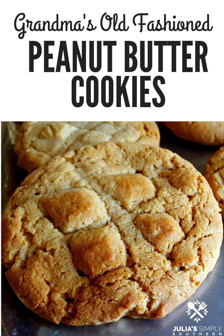 Grandma's Old Fashioned Peanut Butter Cookies, perfect for Christmas and holiday gift giving or as an everyday dessert #baking #holidaybaking #cookierecipes | Julia's Simply Southern