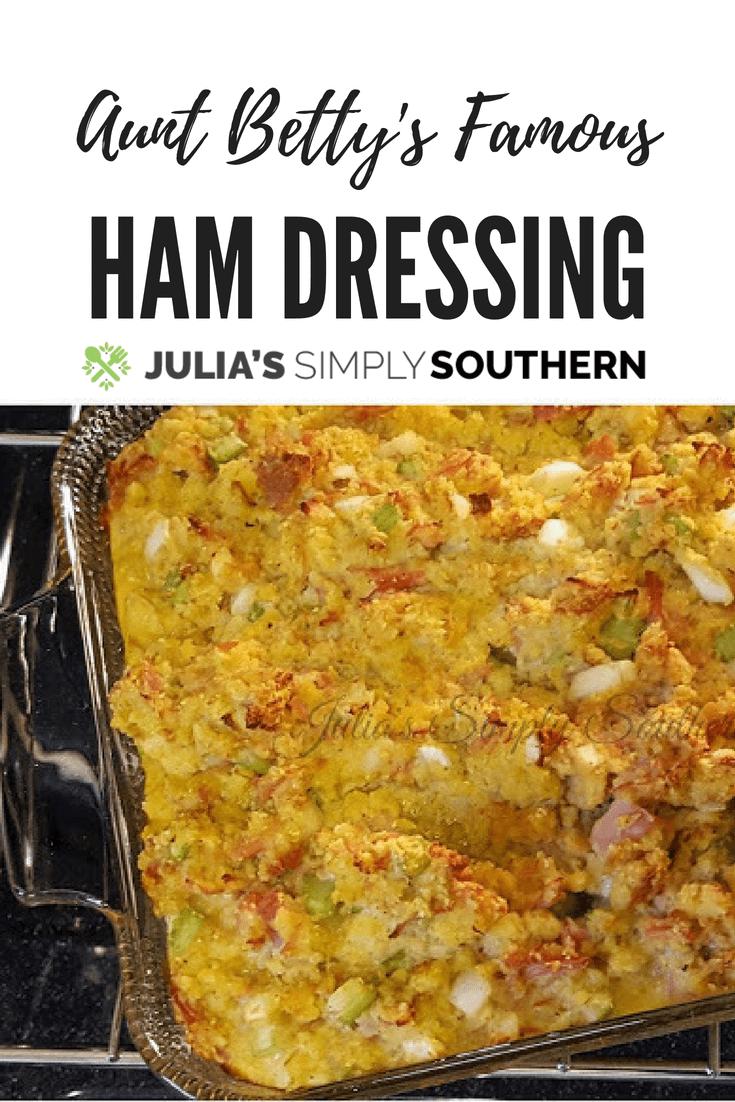 Ham Dressing #SideDish #Holidays #Thanksgiving #Christmas #Easter #FamilyRecipes #Dellicious