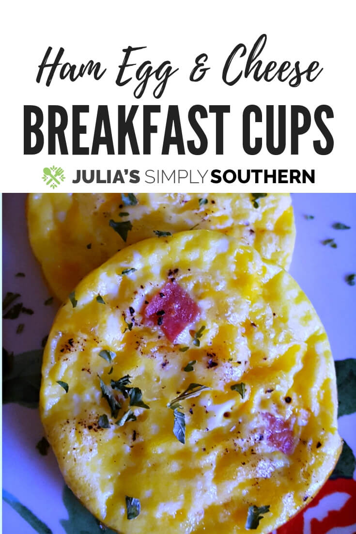 Ham, Egg and Cheese Breakfast Muffin Cups are a quick and easy meal for breakfast or brunch. These low carb healthy breakfast cups are a great way to use up some leftover holiday ham and for feeding guests. #KidFriendly #LowCarb #Holidays #Breakfast #Brunch