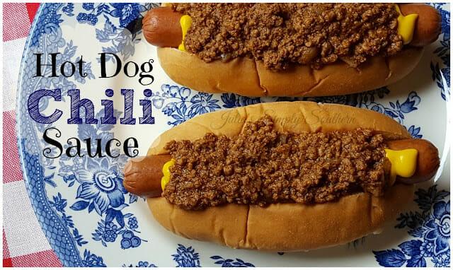 Southern Hot Dog Chili Sauce