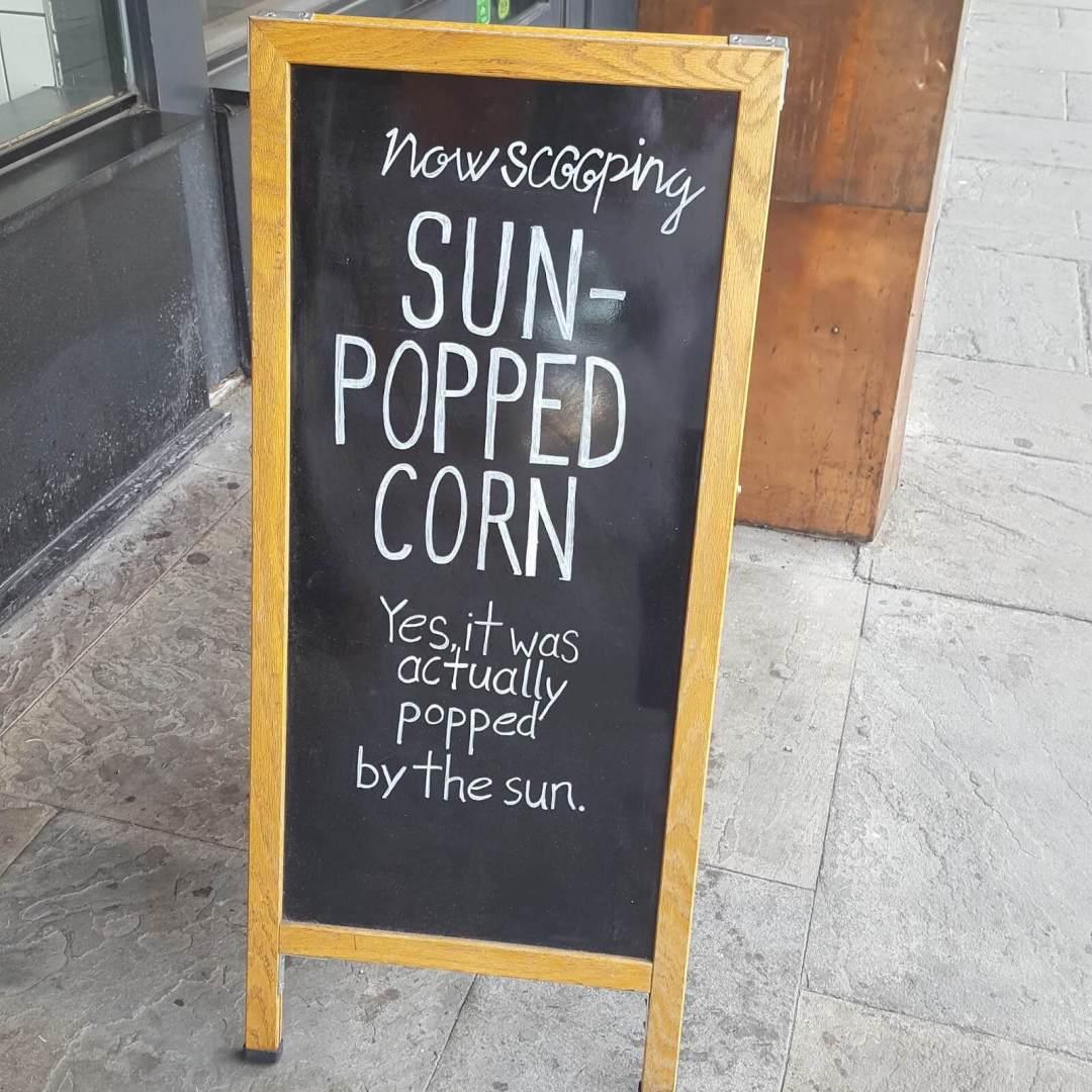 Pop corn ice cream